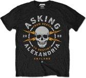 Asking Alexandria - Danger heren unisex T-shirt zwart - S