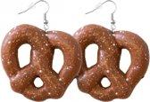 Oktoberfest pretzel oorbellen