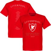Liverpool Champions Of Europe 2019 Selectie T-Shirt - Rood