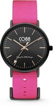 CO88 Collection 8CW-10020 - Horloge - Nato Nylon - roze - 36 mm