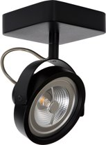 Lucide TALA LED - Plafondspot - LED Dimb. - G53 (AR111) - 1x12W 2700K - Zwart