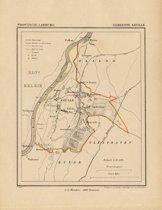 Historische kaart, plattegrond van gemeente Geul in Limburg uit 1867 door Kuyper van Kaartcadeau.com