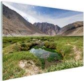 Landschap op weg naar de Himalaya Glas 90x60 cm - Foto print op Glas (Plexiglas wanddecoratie)