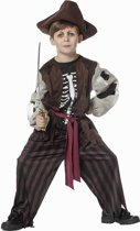 Piraat & Viking Kostuum   Creepy Piraat Met Geraamte   Jongen   Maat 128   Carnaval kostuum   Verkleedkleding