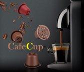 hervulbare nespresso cups - koffiecups - navulbare cups - bruin - 3 stuks