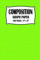 Composition Graph Paper Notebook: Lime Green Cover 100 pages 6 x 9 inch