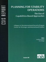 Planning for Stability Operations