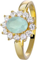Eve - Eve goldplated ring milky blue