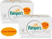 pampers sensitive billendoekjes 1344 st (24 x 56)