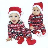 Kerstpakje Baby | Huispakje Jumpsuit Kerst Baby | Christmas Boxpakje Rendier Romper
