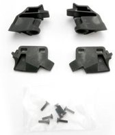 Retainer, battery hold-down, front (2)/ rear (2)/ CCS 3x12 (