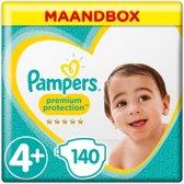 Pampers Premium Protection - Maat 4+ (Maxi+) 10-15 kg -  Maandbox 140 Stuks - Luiers