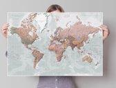 Wereldkaart - decoratief Nederlandstalig  - Poster 91.5 x 61 cm