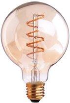 Vintage LED Lamp G95 4W Gold 2200K Twisted Dimbaar
