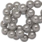 DQ Glasparels (8 mm) White Grey Shine (75 Stuks)