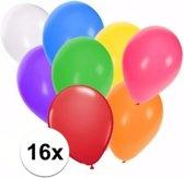 Gekleurde ballonnen 16 stuks