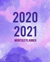 2020-2021 Monthly Planner: Purple Cover 2 Year Monthly Planner Calendar Schedule Organizer January 2020 to December 2021 (24 Months) With Holiday
