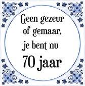 Bol Com Verjaardag Tegeltje Met Spreuk 70 Jaar Happy Birthday
