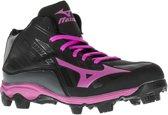 Mizuno 9 Spike Advanced Franchise 8 Mid  Hockeyschoenen - Maat 38.5 - Vrouwen - zwart/roze