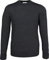 Calvin Klein superior wool crew neck pullover - heren trui wol - antraciet grijs -  Maat L