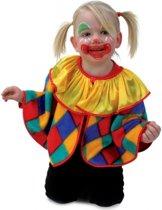 Peuter clown verkleedkleding poncho 98