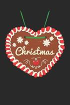 Christmas Notebook 'Gingerbread Heart' - Christmas Gingerbread Heart Christmas 2019 Xmas Gift - Christmas Journal
