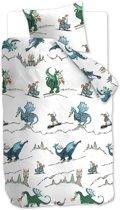 Beddinghouse Kids Dragons - kinderdekbedovertrek - Eenpersoons - 140x200/220 cm - Blauw Groen