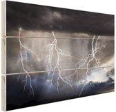 Bliksemshow Hout 30x20 cm - klein - Foto print op Hout (Wanddecoratie)