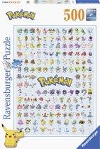 Ravensburger puzzel Eerste generatie Pokémon - legpuzzel - 500 stukjes