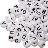 Acryl Letterkralen Mix (8 x 8 x 4 mm) White (100 stuks)