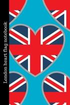 London heart flag notebook: London Primary Composition Ruled Pages Notebook Journal Logbook