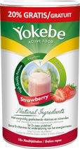 Yokebe Strawberry Maaltijdshake Maaltijdvervanger - Helpt bij afvallen - 500 gram - 10 porties