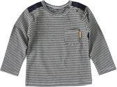 Little Label Jongens T-shirt - zwart,wit - Maat 74