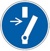 Gebodsbord  'Onderhoud of reparatie vrijhouden' , blauw-wit