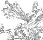 Engraved Flowers, fotobehang van KEK Amsterdam, WP-333, 6 baans behang
