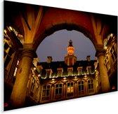 Franse architectuur op de gebouwen in Rijsel Plexiglas 90x60 cm - Foto print op Glas (Plexiglas wanddecoratie)
