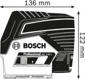 Bosch Professional GCL 2-50 C Lijnlaser - Met RM2 + etui + richtplaat + 12V accu + lader + BM3 houder
