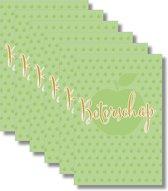 6x dubbele wenskaart met envelop - Beterschap - 11,5 x 17 cm