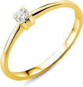 Majestine verlovingsring 18 karaats - ring - 18 karaat (750) - briljant geslepen diamant 0.07 ct