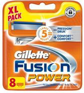 Gillette Fusion Power - 8 stuks - Scheermesjes - Navulling