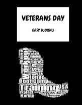 Veterans Day Marine: 100 Easy Puzzles In Large Print Veterans Day