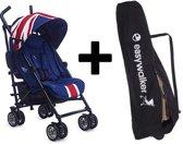 MINI by Easywalker buggy - Union Jack Classic + Easywalker transport Tas