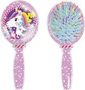 Afbeelding van Unicorn - haarborstel met gliter speelgoed