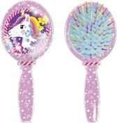 Unicorn - haarborstel met gliter
