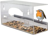 Nature Windows Bird Feeder - Vogelvoederhuisje - Transparant - 30 cm x 10 cm x 14 cm