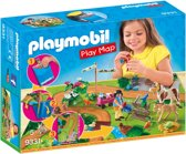PLAYMOBIL Ponyrijders met plattegrond - 9331