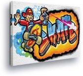 Graffiti Skate Canvas Print 80cm x 60cm