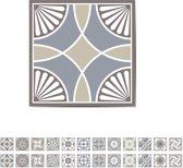 Walplus Spaans Kalksteen - Muursticker/Trapsticker - Multicolor - 15x15 cm - 24 stuks