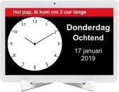 BBrain - Family D2 - Dementieklok   Alzheimer kalenderklok vanaf afstand bedienbaar met app