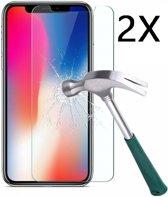 Ntech 2 Stuks Screenprotector Tempered Glass Glazen - Apple iPhone X/Xs